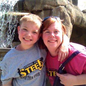 Darla & Trent, pediatric stroke survivor and mom